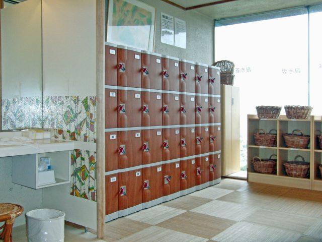 浴室更衣室のプラスチックロッカー
